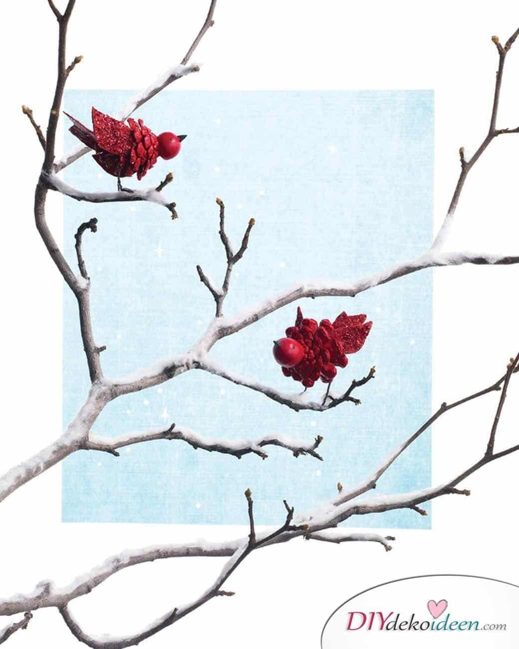 Basteln mit Tannenzapfen Weihnachten - 11 zauberhafte Bastelideen - Vögel