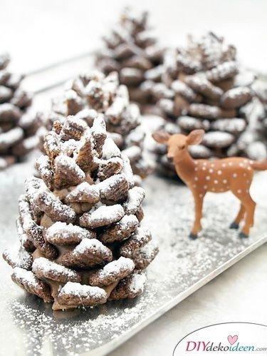 Basteln mit Tannenzapfen Weihnachten - Essbare Tannenzapfen Rezept Weihnachten