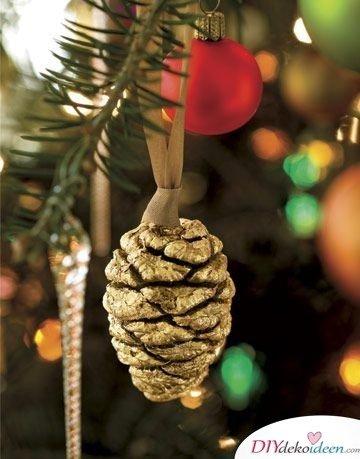 Basteln mit Tannenzapfen Weihnachten - Christbaumschmuck