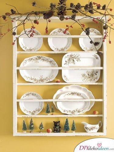 Basteln mit Tannenzapfen Weihnachten - Deckenschmuck