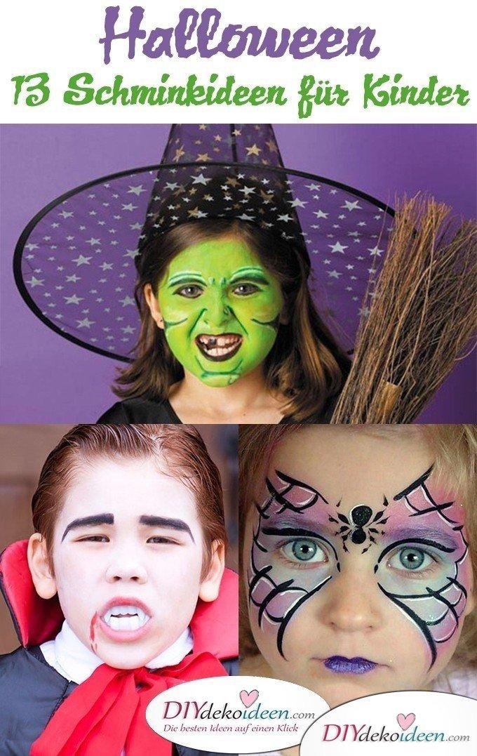 Halloween Schminkideen Kinder - 13 unheimlich tolle und einfache Ideen