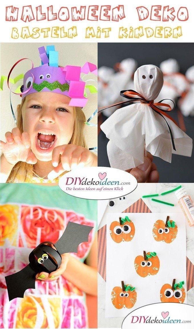 Halloween Deko basteln mit Kindern - Jetzt wird´s gruselig! 10 Bastelideen