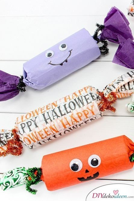Halloween Deko basteln mit Kindern - 10 Bastelideen - Halloween Partykracher