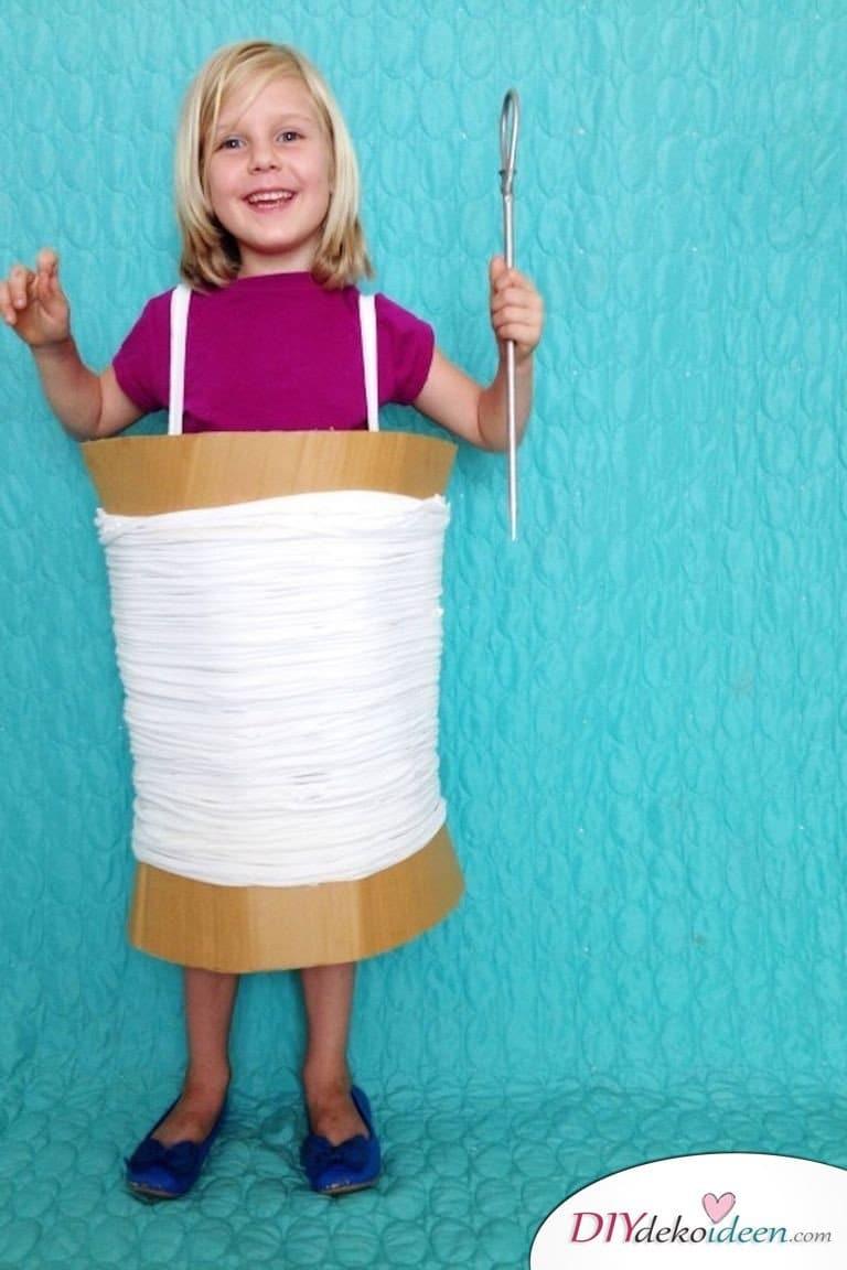 15 witzige Halloween Kostüm Ideen für Kinder zum selbermachen - Garnspule - Kinderkostüm
