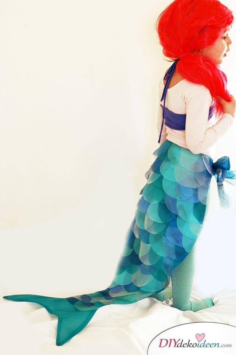 15 witzige Halloween Kostüm Ideen für Kinder zum selbermachen - Meerjungfrau - Kinderkostüm