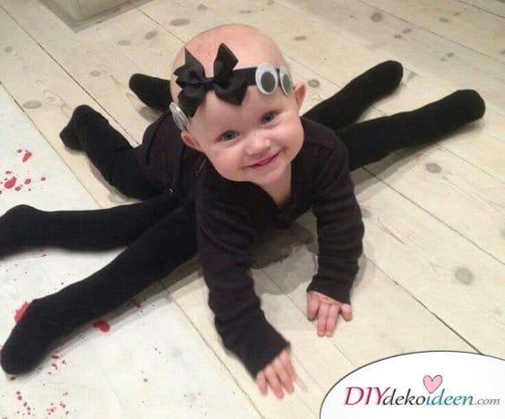 11 Halloween Kostüm Ideen für Kinder - Unheimliches DIY Spinnenkostüm
