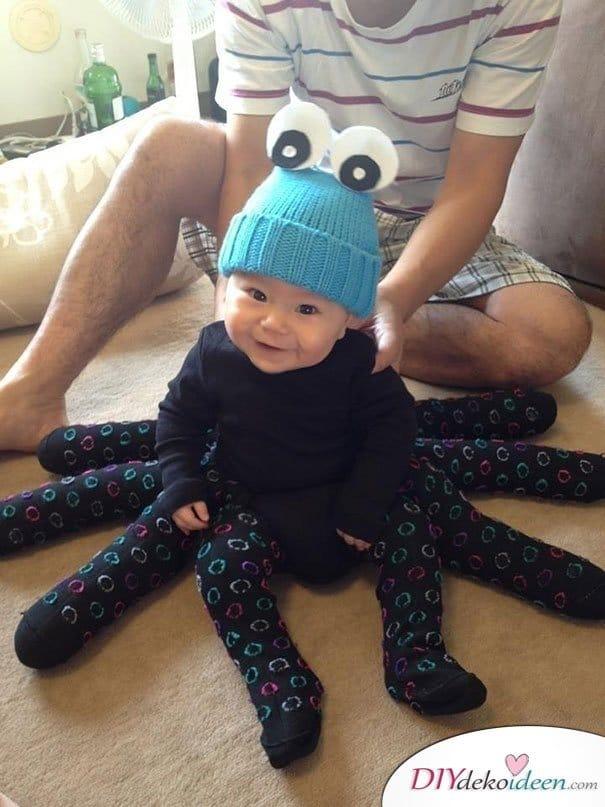 11 Halloween Kostüm Ideen für Kinder - DIY Spinnenkostüm für Babies