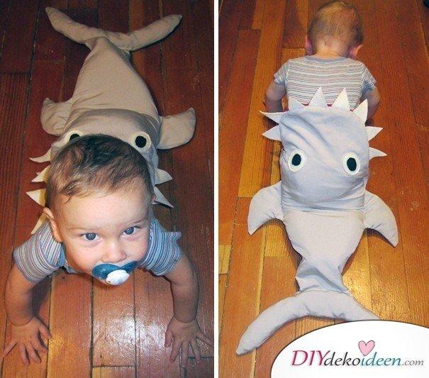 11 Halloween Kostüm Ideen für Kinder - DIY Hai Kostüm