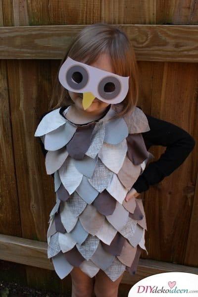 Kreative Kostüme zu Halloween - 13 Halloween Kostüm Ideen für Kinder - Eule