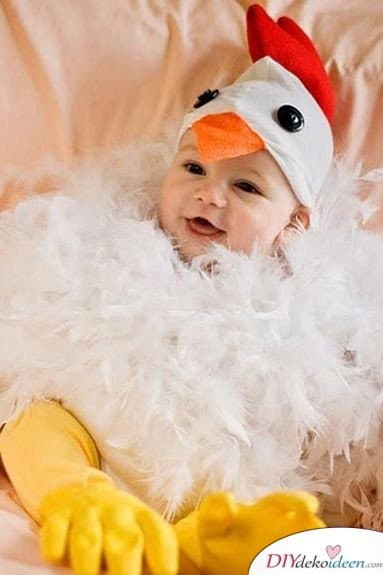 Kreative Kostüme zu Halloween - 13 Halloween Kostüm Ideen für Kinder - Huhn