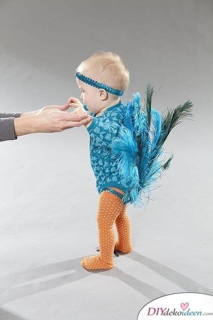 Kreative Kostüme zu Halloween - 13 Halloween Kostüm Ideen für Kinder - Pfau