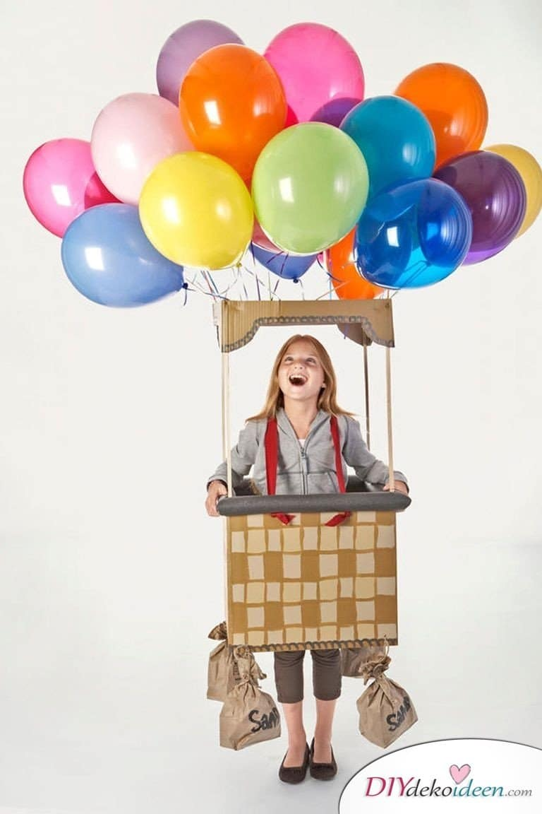 Kreative Kostüme zu Halloween - 13 Halloween Kostüm Ideen für Kinder - Heißluftballon