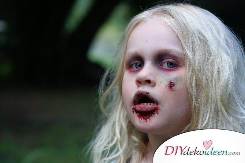 Halloween Schminkideen Kinder - 13 unheimlich tolle und einfache Ideen - Zombie