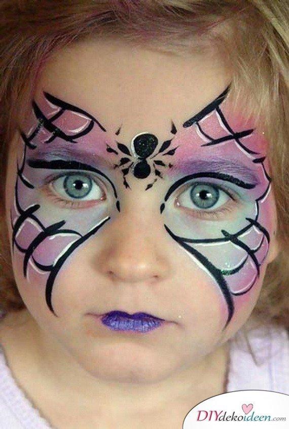 Halloween Schminkideen Kinder - 13 unheimlich tolle und einfache Ideen - Hexe - Kinderschminken