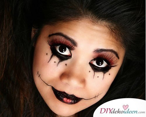 Halloween Schminkideen Kinder - 13 unheimlich tolle und einfache Ideen - Harlekina - Kinderschminken
