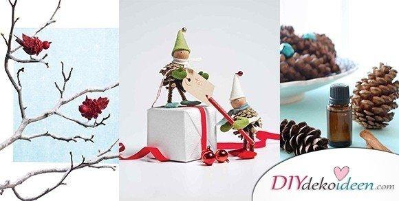 Basteln mit Tannenzapfen Weihnachten – 11 zauberhafte Bastelideen