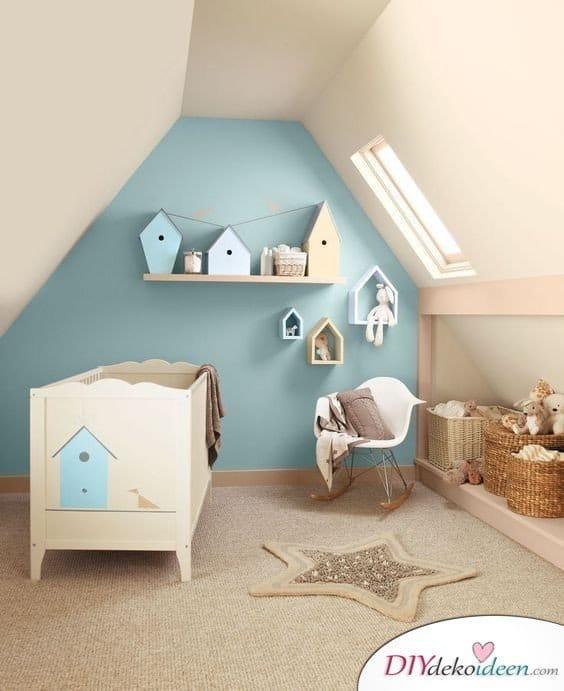 Dachbodenzimmer einrichten mit diesen tollen DIY Dekoideen - Baby Zimmer Kinderzimmer einrichten