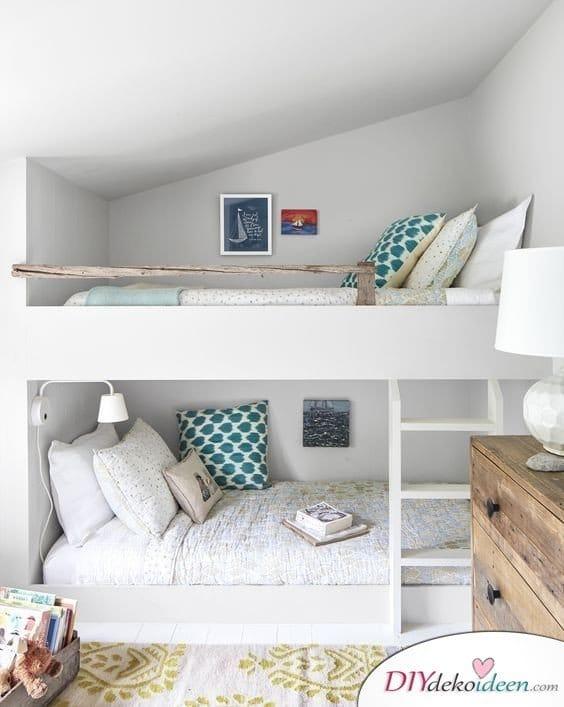 Dachbodenzimmer einrichten mit diesen tollen DIY Dekoideen - Etagenbetten