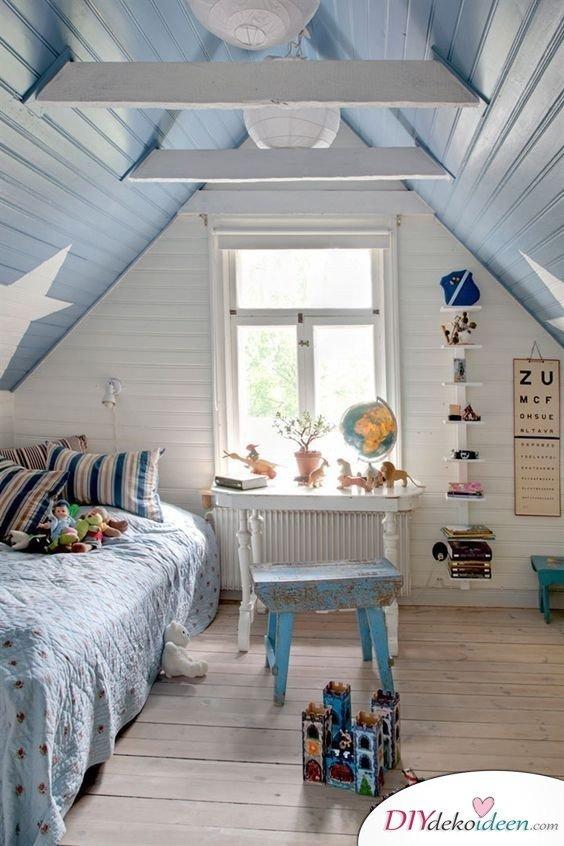 Dachbodenzimmer einrichten mit diesen tollen DIY Dekoideen - Zimmer einrichten