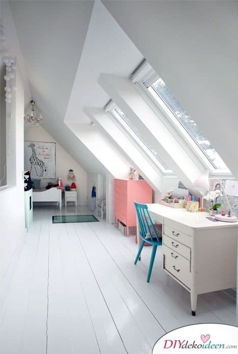Dachbodenzimmer einrichten mit diesen tollen DIY Dekoideen - Wohnbereiche kombinieren