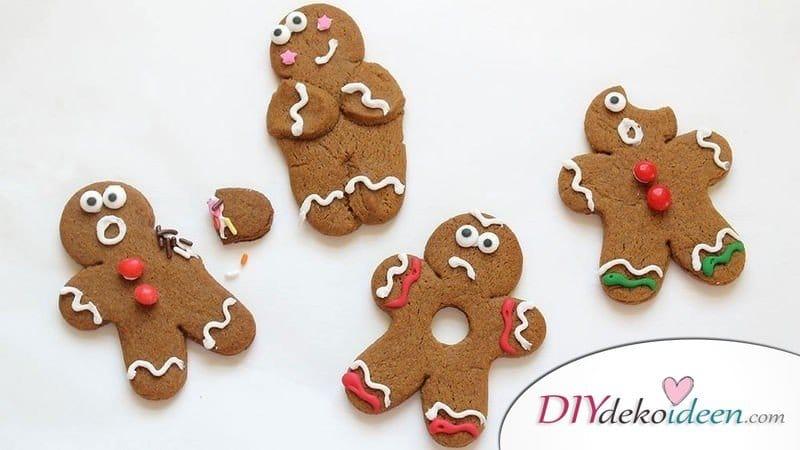 kreative weihnachtskarten- lebkuchmännchen