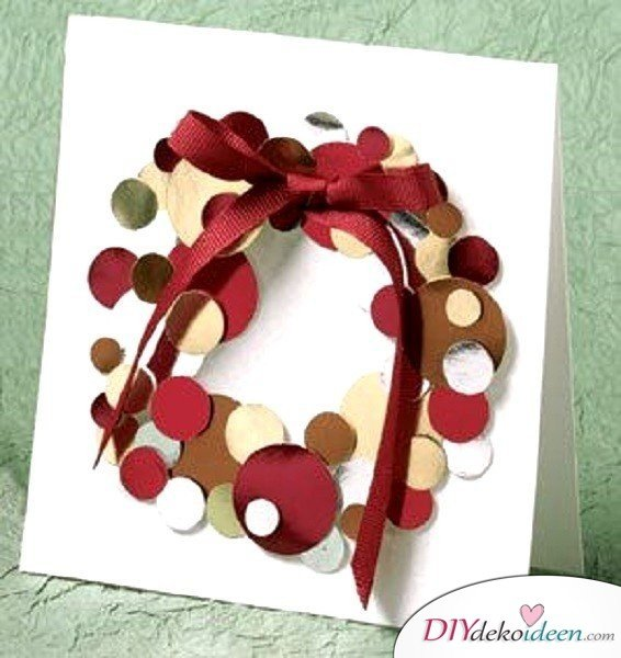 Creative Christmas cards basteln- wreath