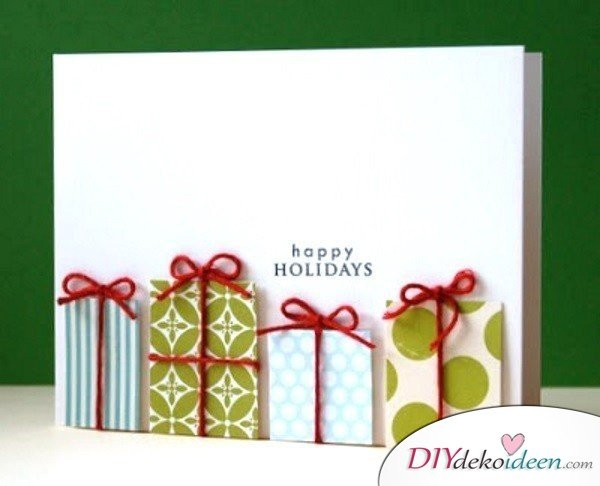 Creative christmas cards making gifts