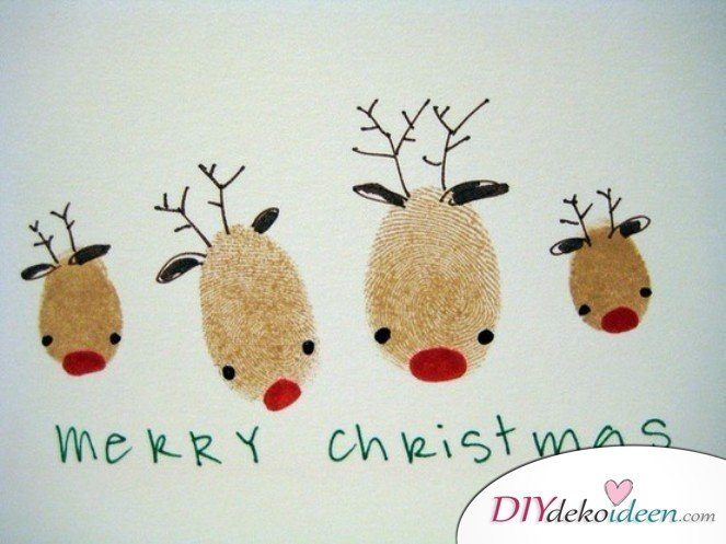 Creative Christmas cards basteln- Fingerprint