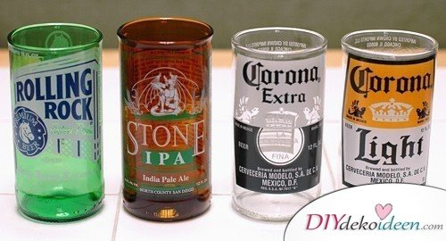 Christmas gifts for men's drinking glasses from beer bottles