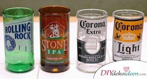 Weihnachtsgeschenke für Männer- Trinkgläser aus Bierflaschen