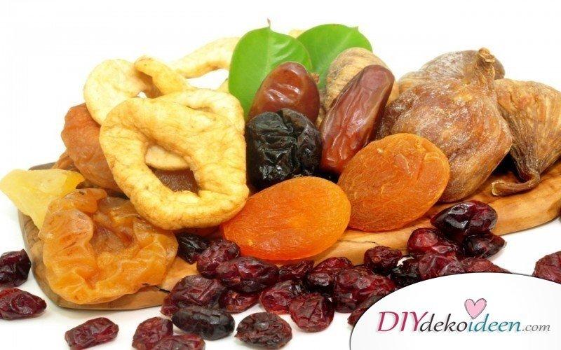 Weihnachtsgeschenk selbstgemacht- getrocknete Früchte