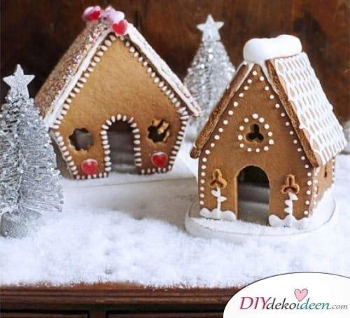 Weihnachtsgeschenk selbstgemacht- Lebkuchendorf