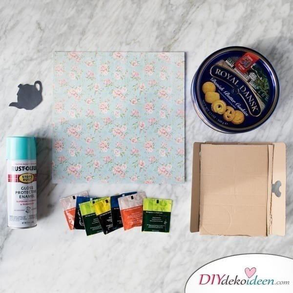 Weihnachtsgeschenk selbstgemacht- Teebox