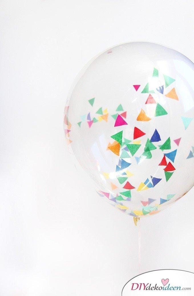 Weihnachtsgeschenke Ideen für Freundin- Konfetti Luftballons