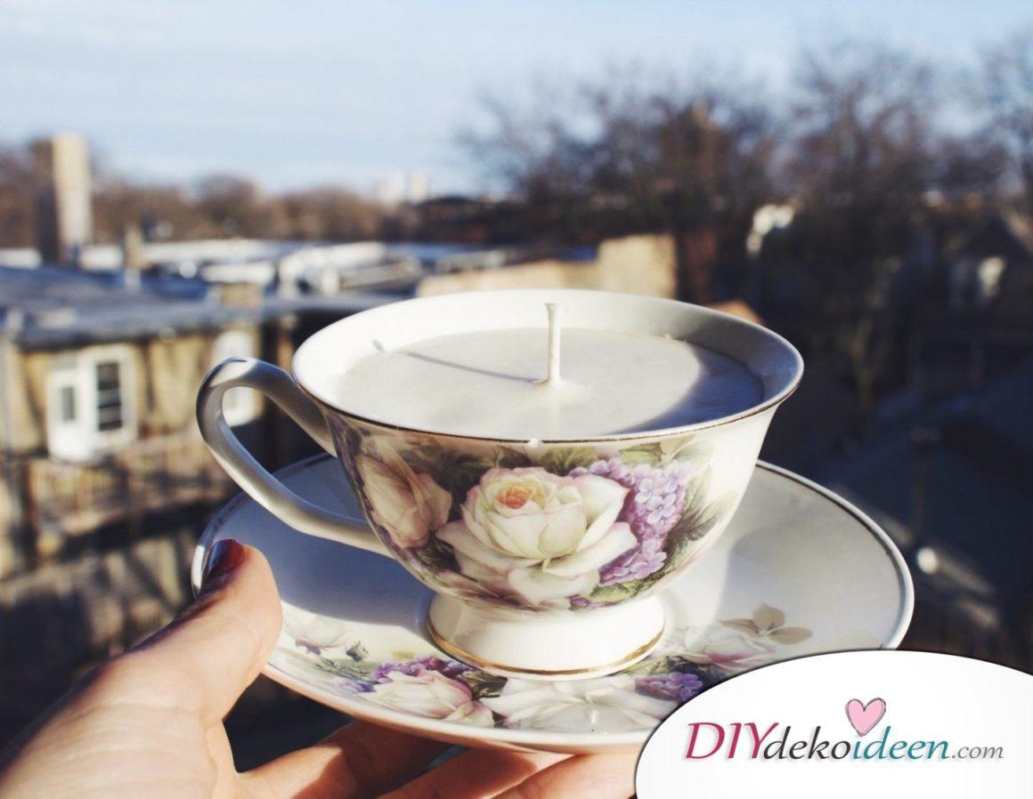Weihnachtsgeschenke Ideen für Freundin- Kerze in der Tasse