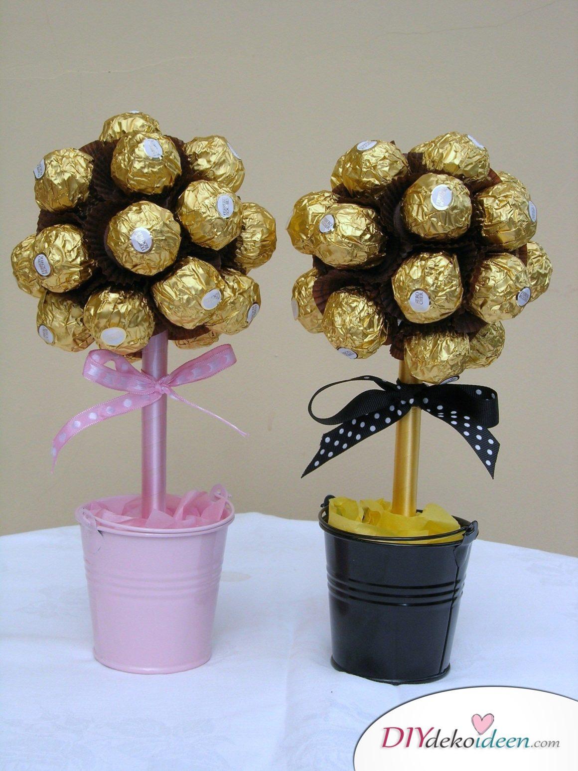 Weihnachtsgeschenke Ideen für Freundin- Blumenstrauß aus Süßigkeiten