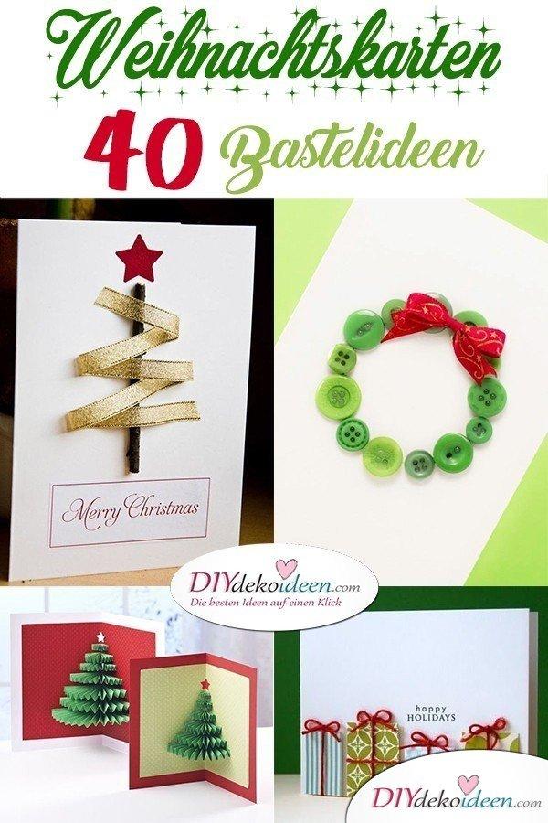 40 Originelle Weihnachtskarten Basteln Grußkarten