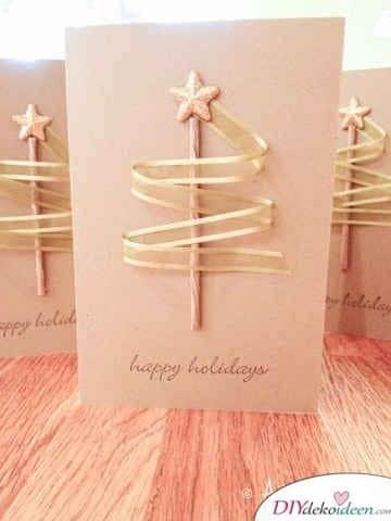 Weihnachtspost Bastelideen - Tannenbäumchen