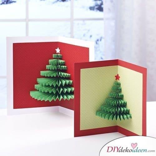 Tannenbaum Weihnachtskarten gestalten