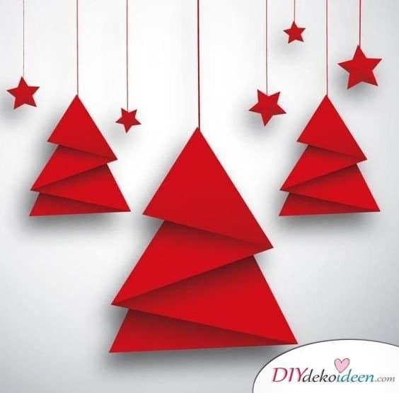 Tannenbaum Grußkarten Weihnachten gestalten