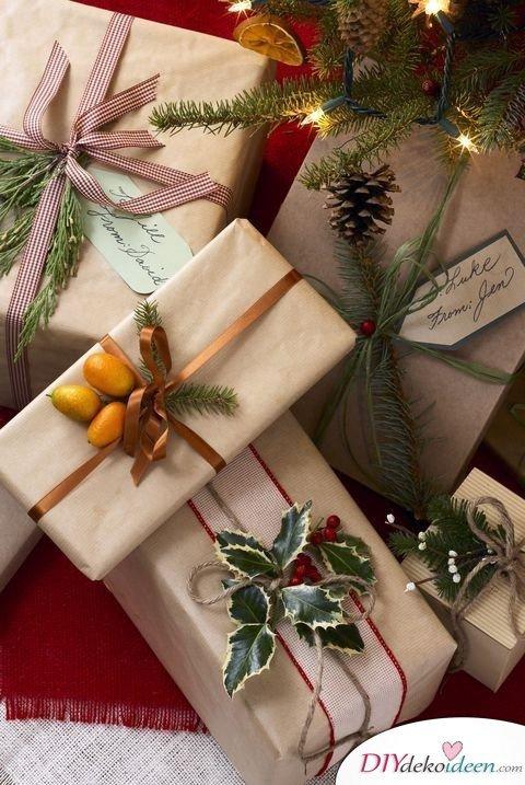 Schöne Verpackungsideen für Heiligabend