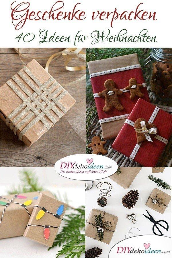 40 Weihnachten Geschenkverpackung Ideen - Geschenke Verpacken
