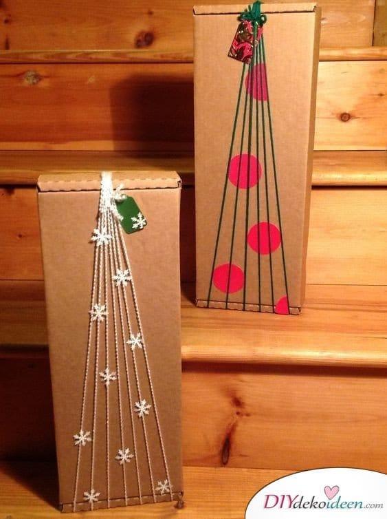 Tannenbaum Geschenkschachtel basteln