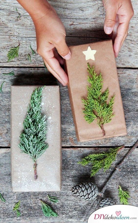 Weihnachtsbaum basteln zu Weihnachten - DIY Geschenke