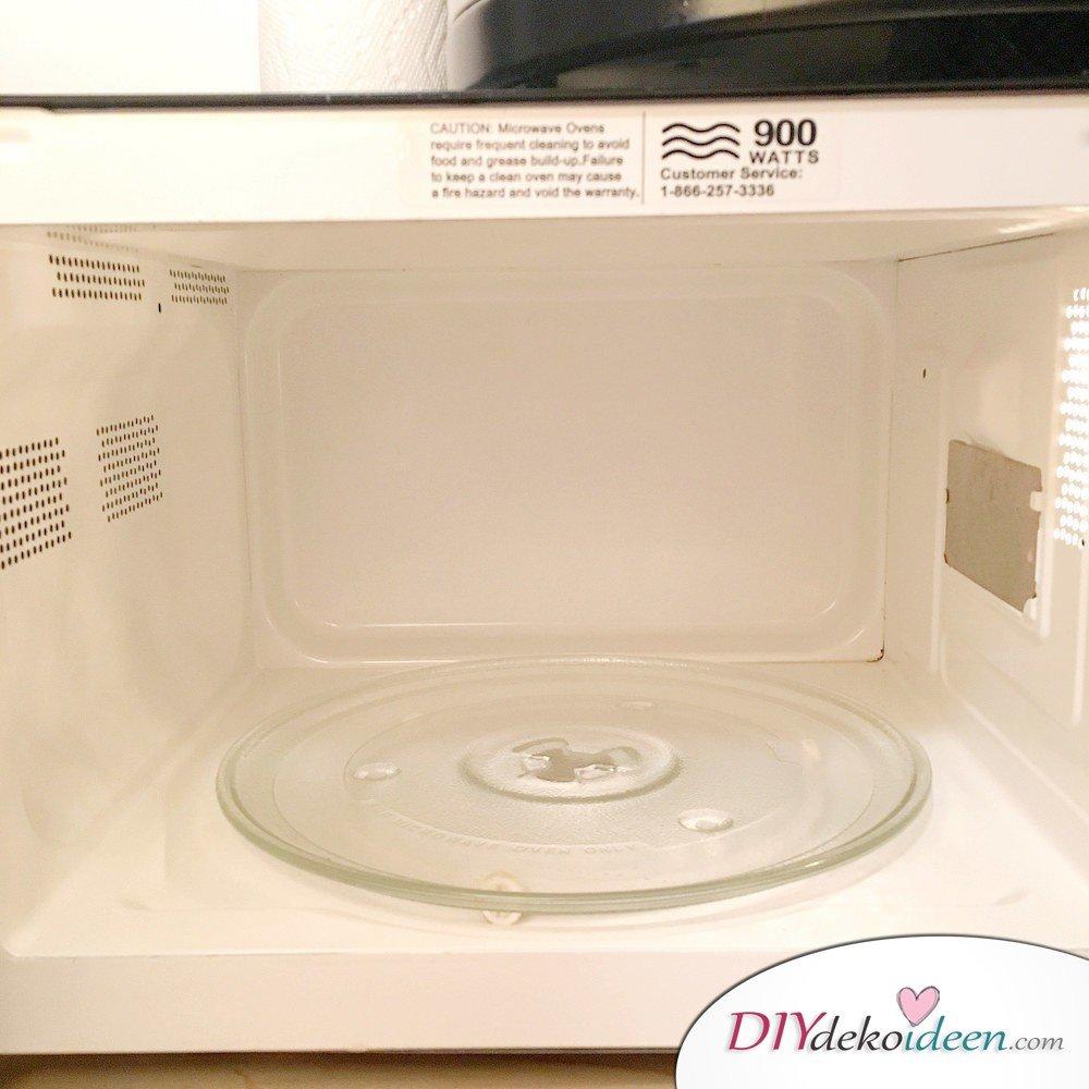 8 Super wirksame Reinigungsmittel Ohne Chemie - Mikrowelle