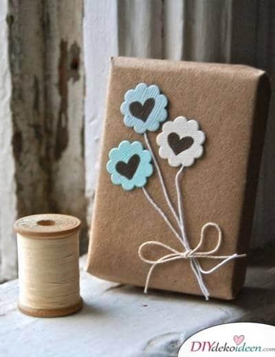 Basteln mit Naturschnur - Geschenke