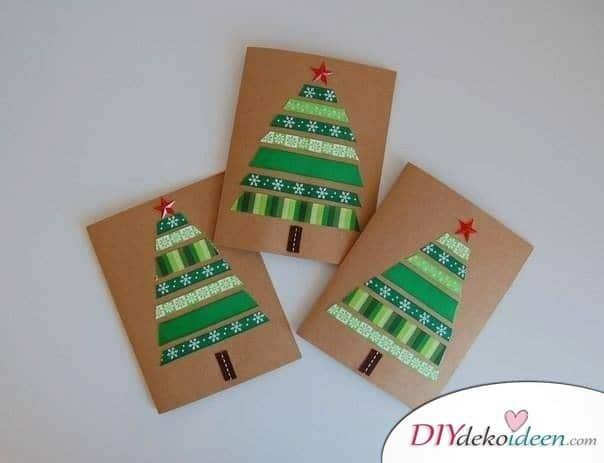 Weihnachtskarten selber gestalten