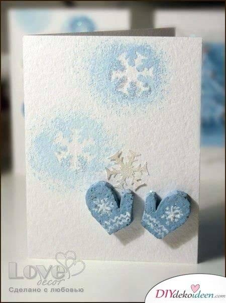 Weihnachten Karten basteln