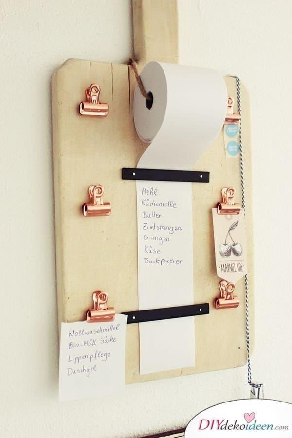 Selbstgemachte Weihnachtsgeschenk-Ideen- Notizen Board