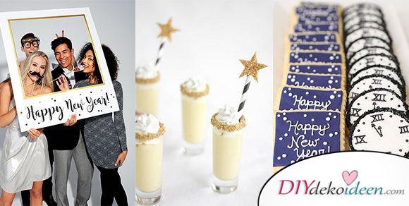 14 fantastisch kreative Silvester Party Ideen – Silvester Deko basteln